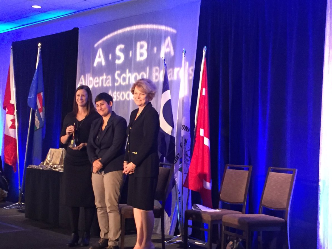 APPLE Schools accepts the ASBA Friends of Education Award